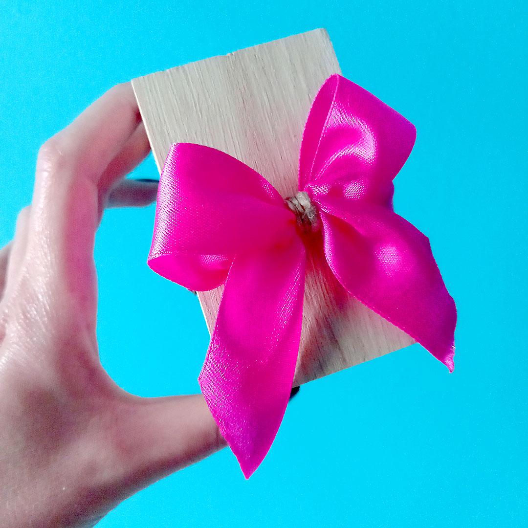 Ρουστίκ μπομπονιέρα βάπτισης με ξύλινο κουτάκι για κορίτσια